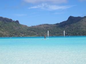 Portico do Le Meridiem e SUP - Bora Bora