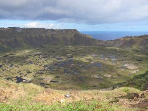 Vulcão Rano Kau, em Orongo