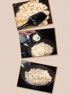 Preparo do camarão