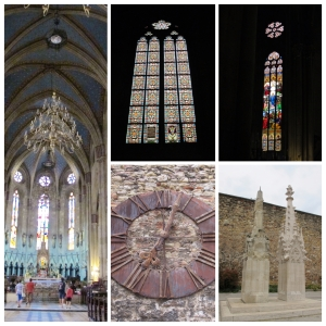 Interior, Colunas e Relógio da Catedral de Assunção da Sagrada Virgem Maria