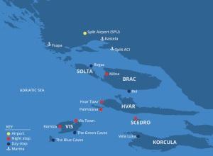 As diversas ilhas ao redor de Hvar