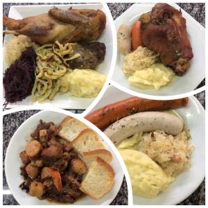 Pratos típicos servidos na Fenarreco