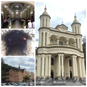 Igreja Azambuja, vista externa e interna. Gruta e Mosteiro