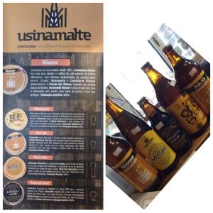 Produtos da Fábrica de cerveja local
