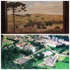 A Fazenda Cancela, a Casa Grande e a Colõnia Witmarsum, como é hoje.